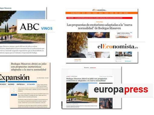 La reapertura al enoturismo de Bodegas Masaveu ocupa titulares en la prensa nacional